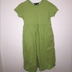 green/floral dress